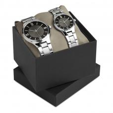 Metal casing watch set